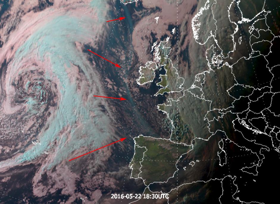 Meteosat-10 Natural Colour RGB, 22 May 18:30 UTC