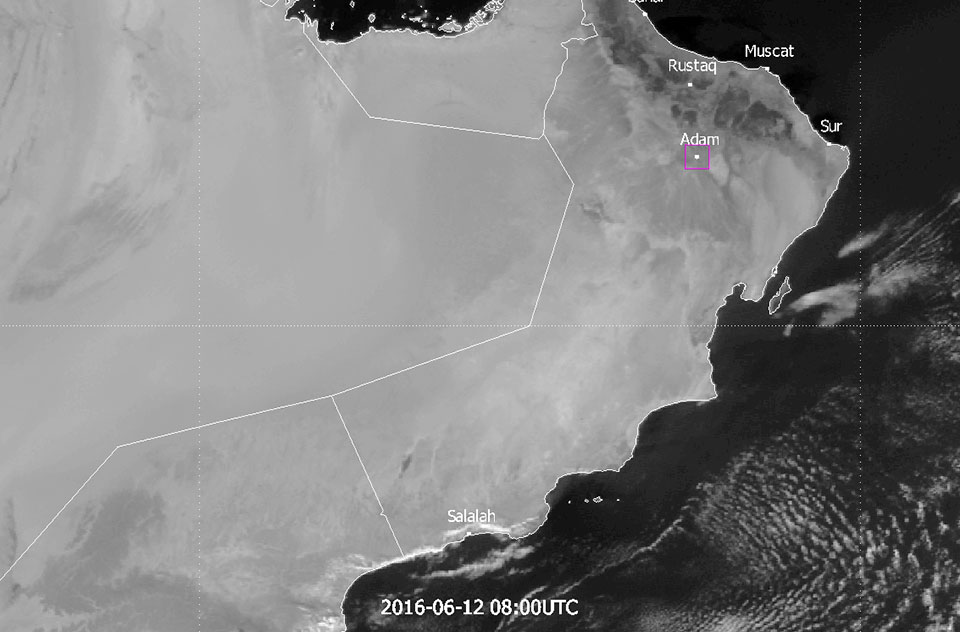 Meteosat-7 Visible, 12 June 08:00 UTC