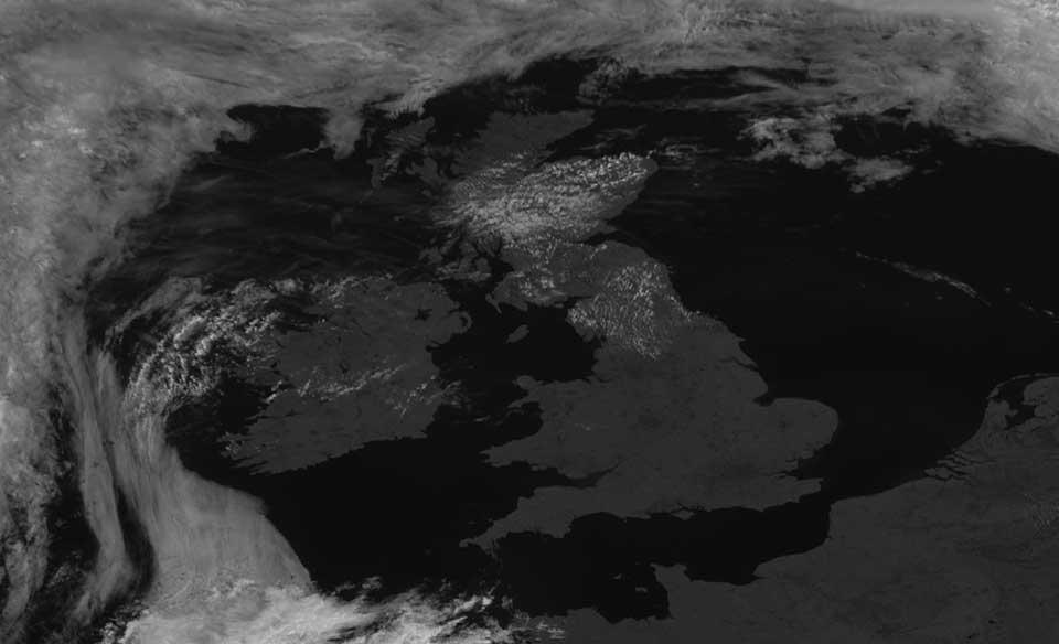 Meteosat-10 High Resolution Visible, 19 July 10:45 UTC