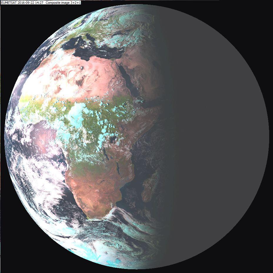 Meteosat-8 Natural Colour RGB, 22 September 14:27 UTC