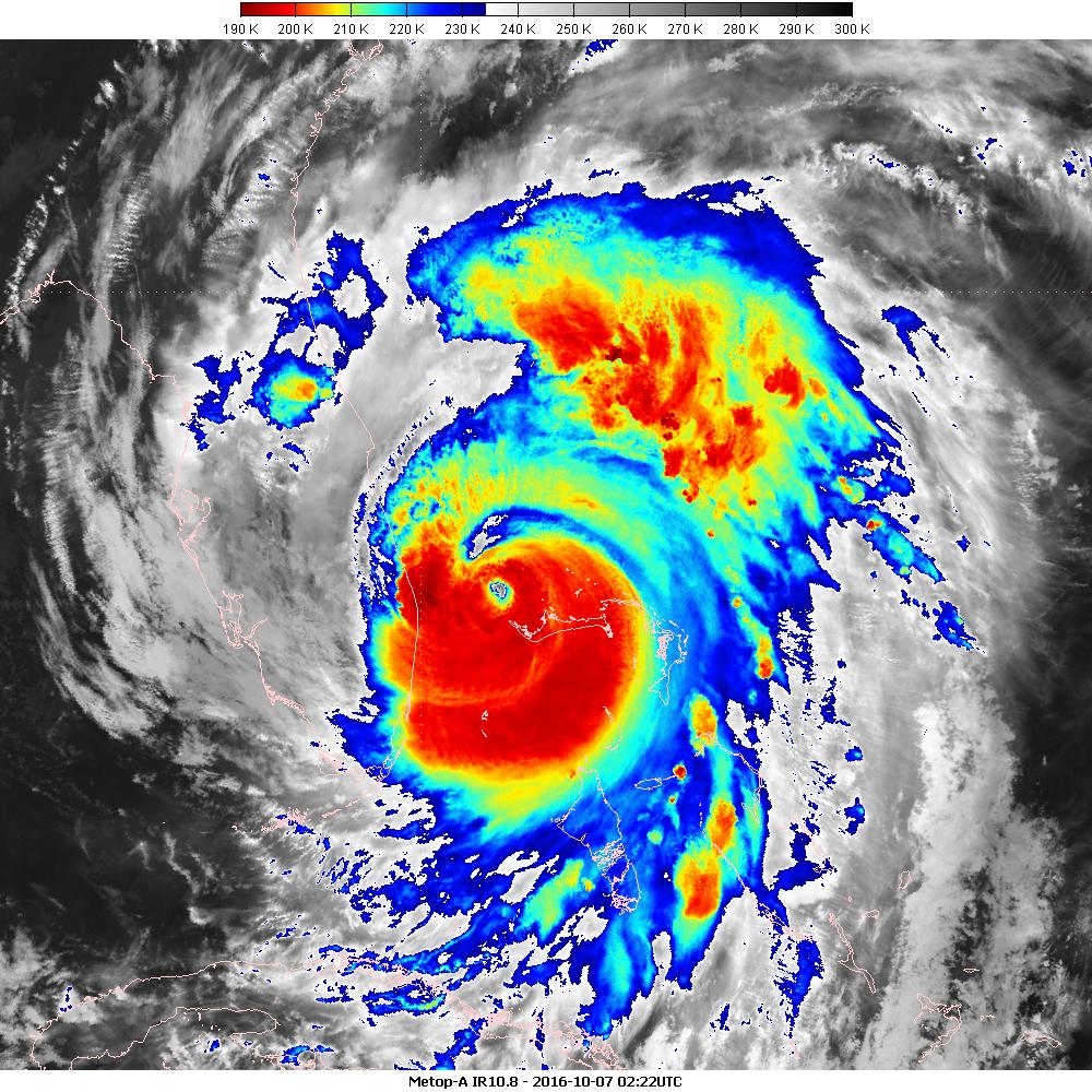 Metop-A IR10.8 channel, 7 October 2016, 02:22 UTC