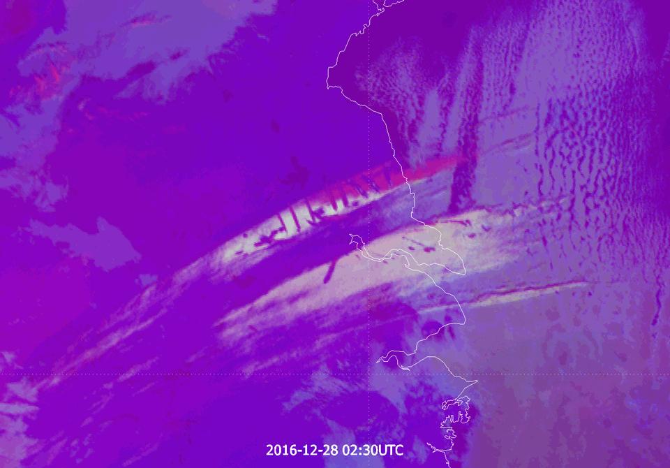 Himawari-8 Convection RGB, 28 December 02:30 UTC