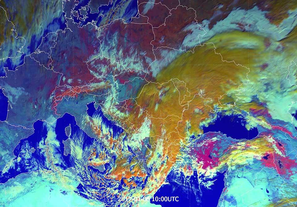 Meteosat-10 Snow RGB, 6 January 10:00 UTC