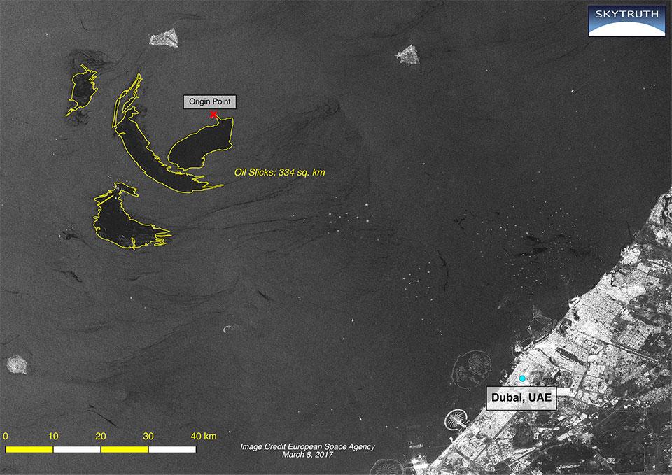 Sentinel-1 SAR, 8 March. Credit: ESA/Skytruth