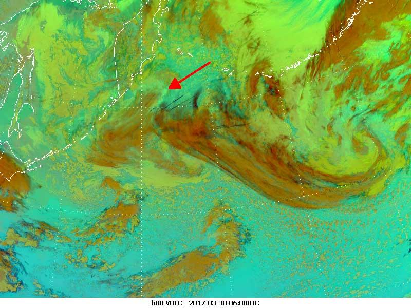 Himawari-8 Ash RGB, 30 March 06:00 UTC