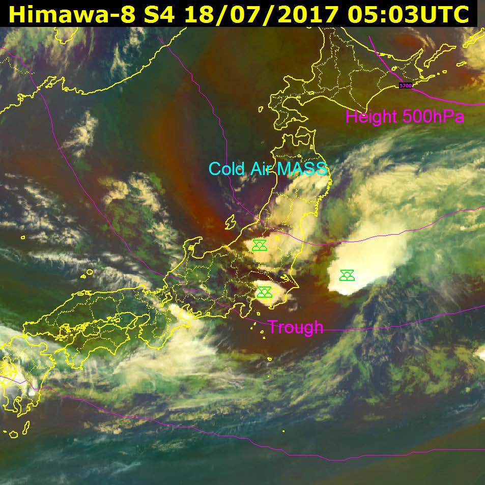 Airmass RGB, 18 July 05:03 UTC