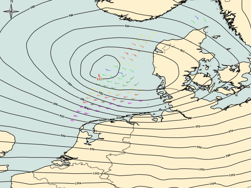 ECMWF analysis with ASCAT winds, 13 Sept, 12:00 UTC