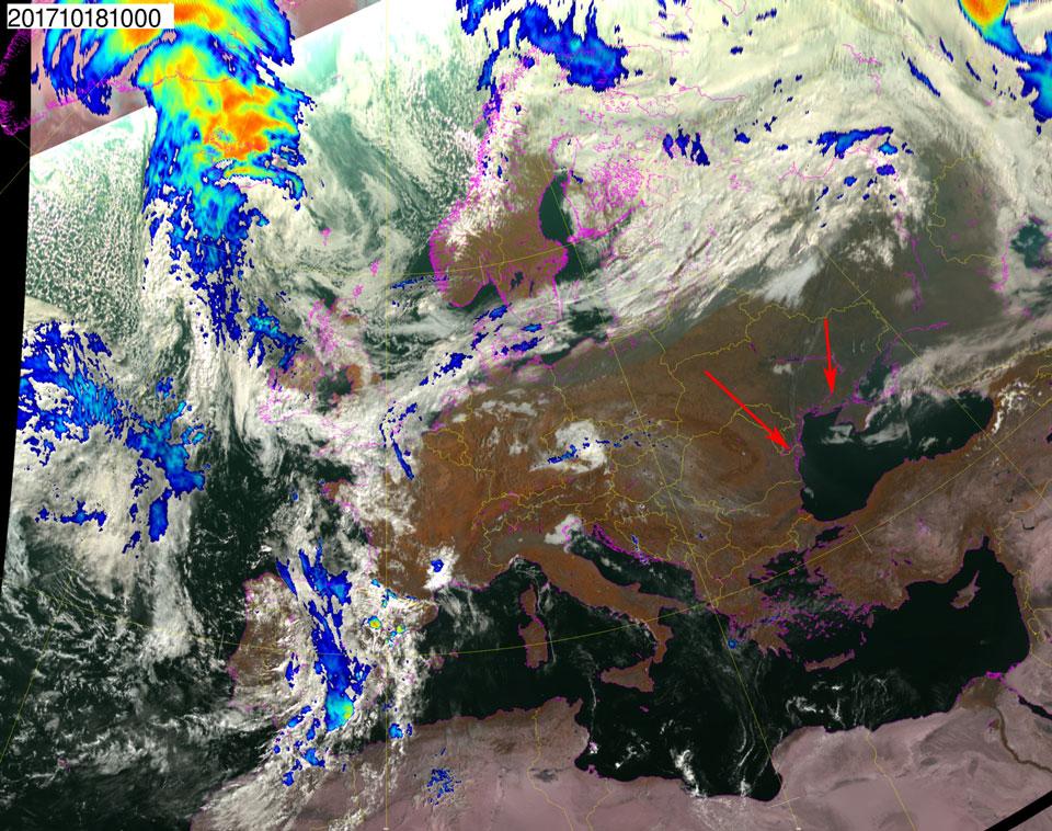 Met-10, 18 October, 10:00 UTC