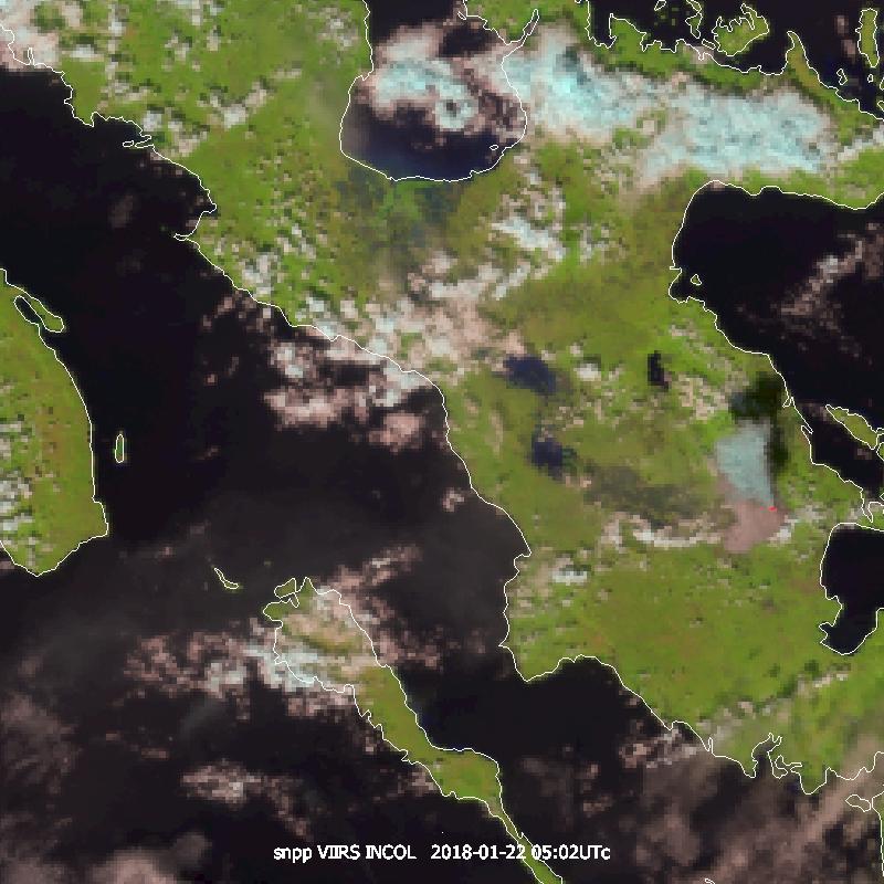 Suomi-NPP Natural Colour RGB, 22 January 05:20 UTC