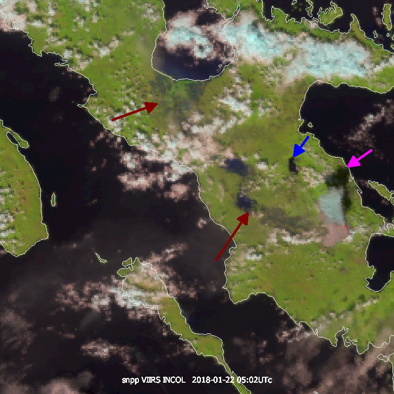 Suomi-NPP Natural Color RGB at 375m spatial resolution, from 05:20 UTC on 22 January.