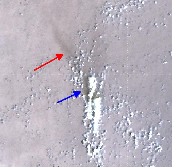 Sentinel-3 SLSTR True Colour RGB, 7 March 05:57 UTC