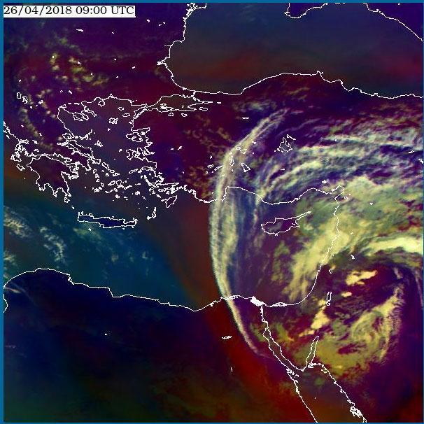 Met-9, 26 April, 09:00 UTC