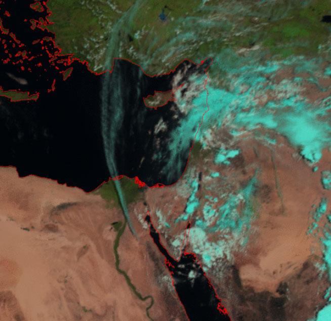 Meteosat-9 Natural Colour RGB, 26 April 09:00 UTC