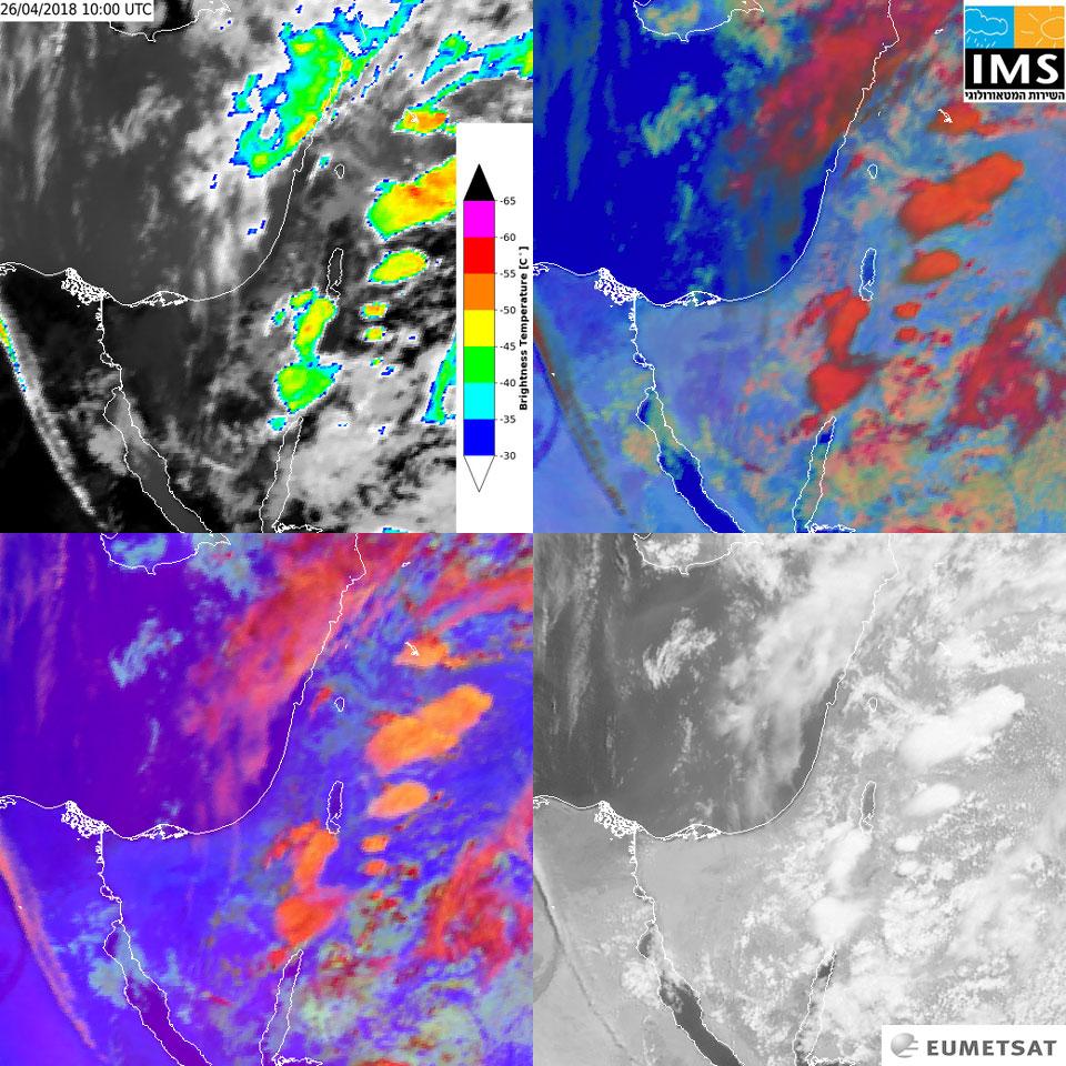 Met-9 images, 26 April, 10:00 UTC