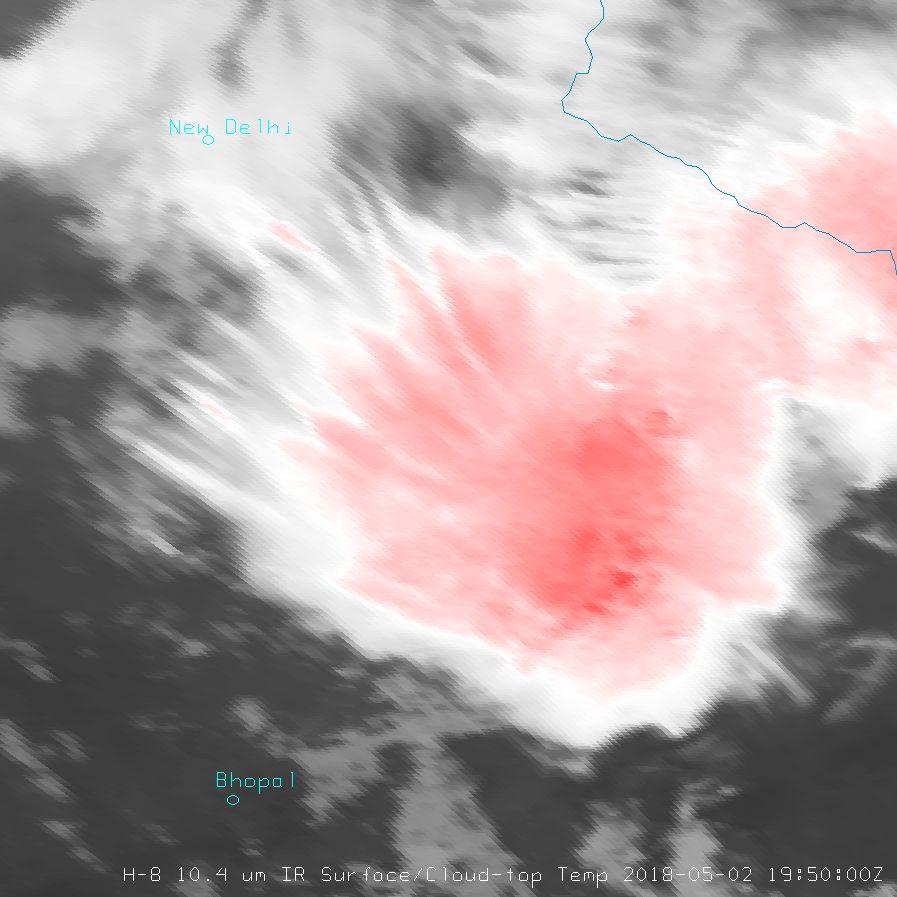 Himawari-8 10.4  µm, 2 May 19:50 UTC