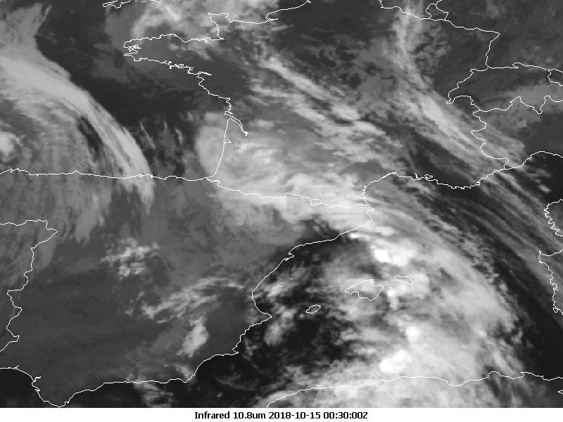 Met-11 infrared, 15 Oct, 00:30 UTC