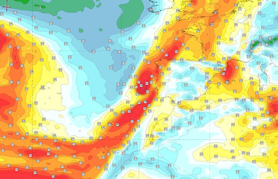 ECMWF Total Column Water estimate, 13 Oct 18:00 UTC