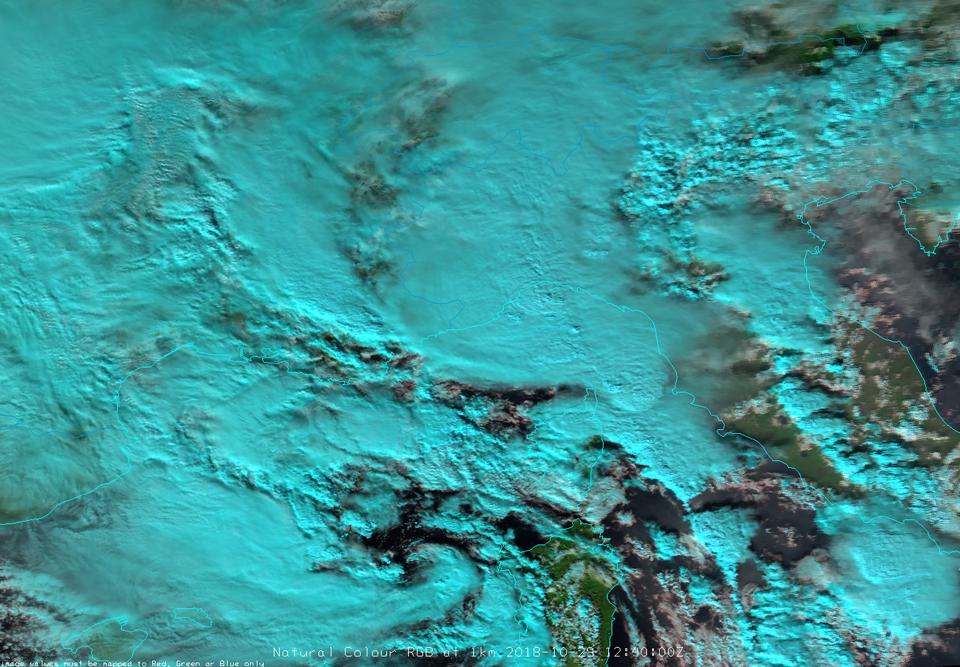 Aqua MODIS Natural Color RGB at 1 km, 29 Oct 12:40 UTC