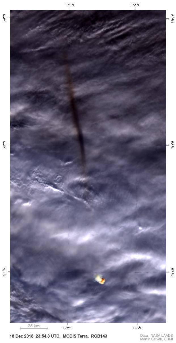 Terra MODIS, True Color RGB, 23:54 UTC