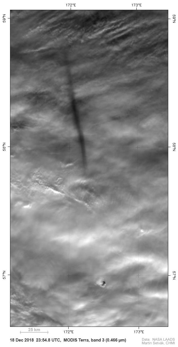 Terra MODIS, 18 Dec, 23:54 UTC