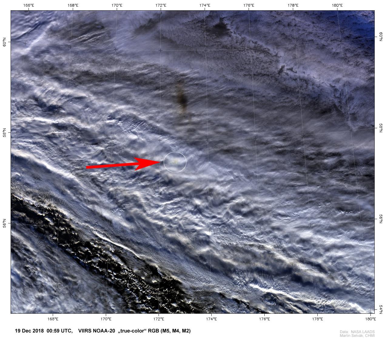 NOAA-20 VIIRS True Color, 19 December, 00:59 UTC