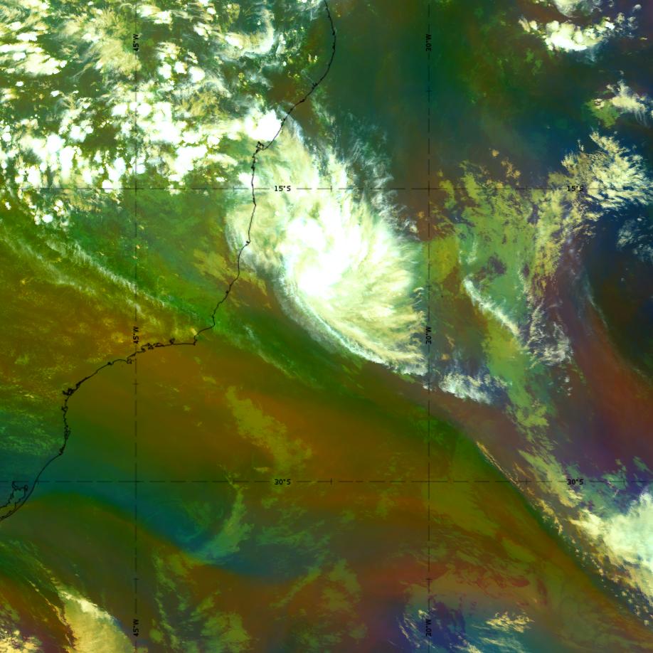 GOES-16 Airmass RGB, 24 March 18:00 UTC