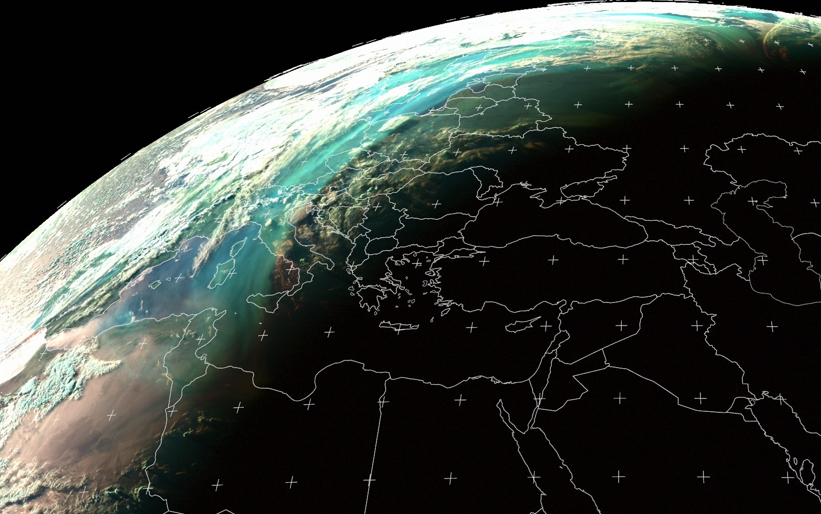 Meteosat-8 Natural Colour RGB, 4 June 18:00 UTC