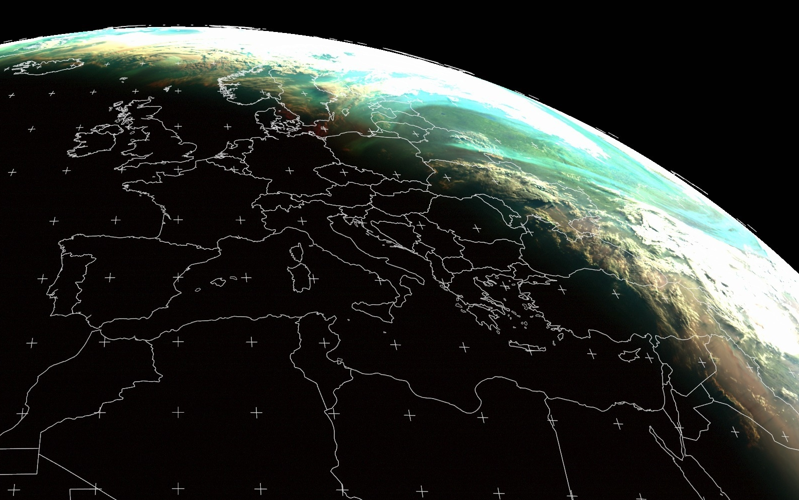 Meteosat-11 Natural Colour RGB, 5 June 02:00 UTC