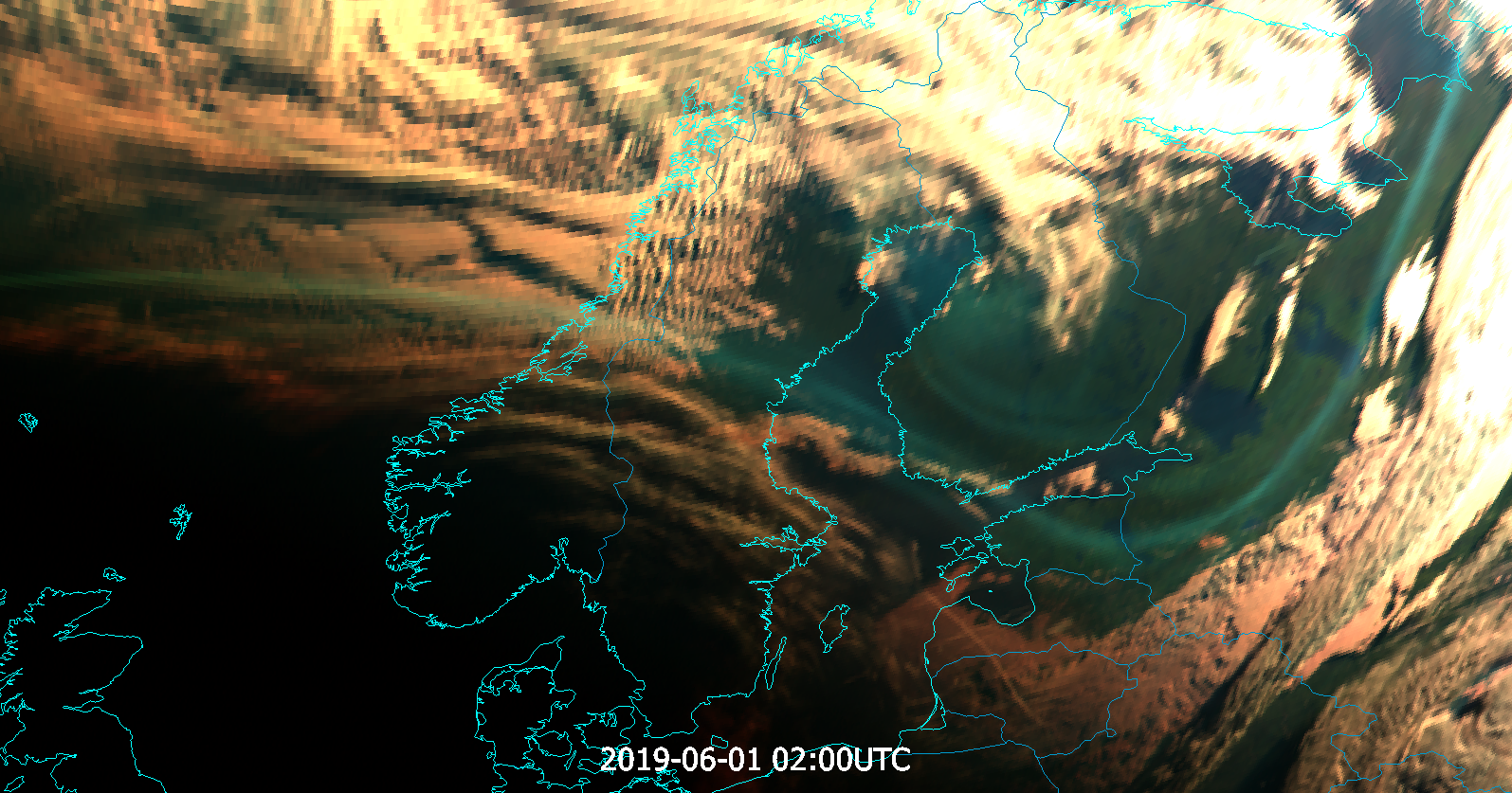 Meteosat-11 Natural Colour RGB, 1 June 02:00 UTC