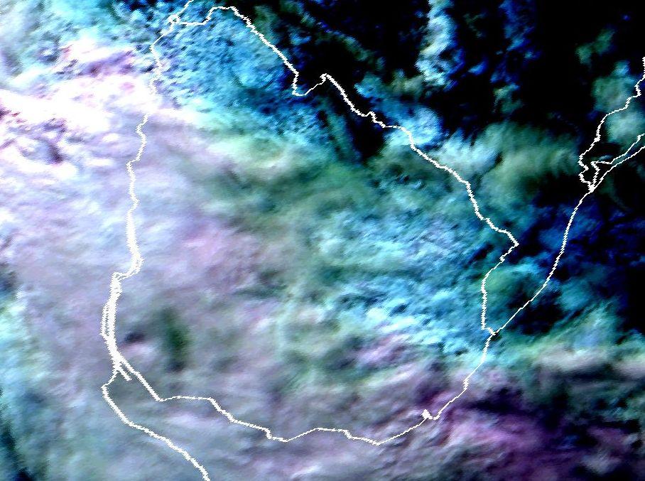 Meteosat-11 Coloured HRV, 16 June 17:00 UTC