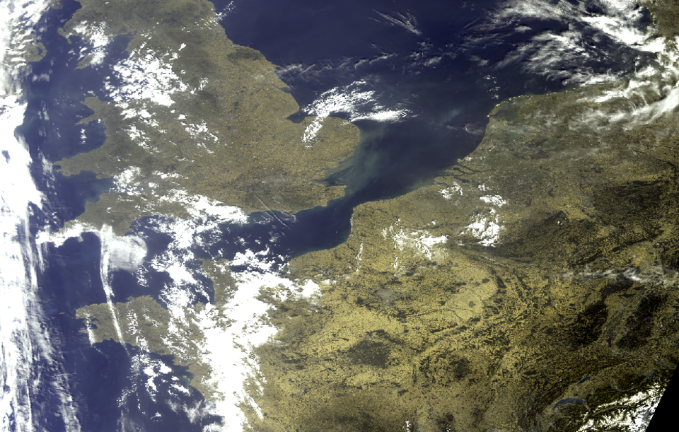 Sentinel-3 OLCI True Colour mosaic (zoomed in), 25 July 10:15 UTC