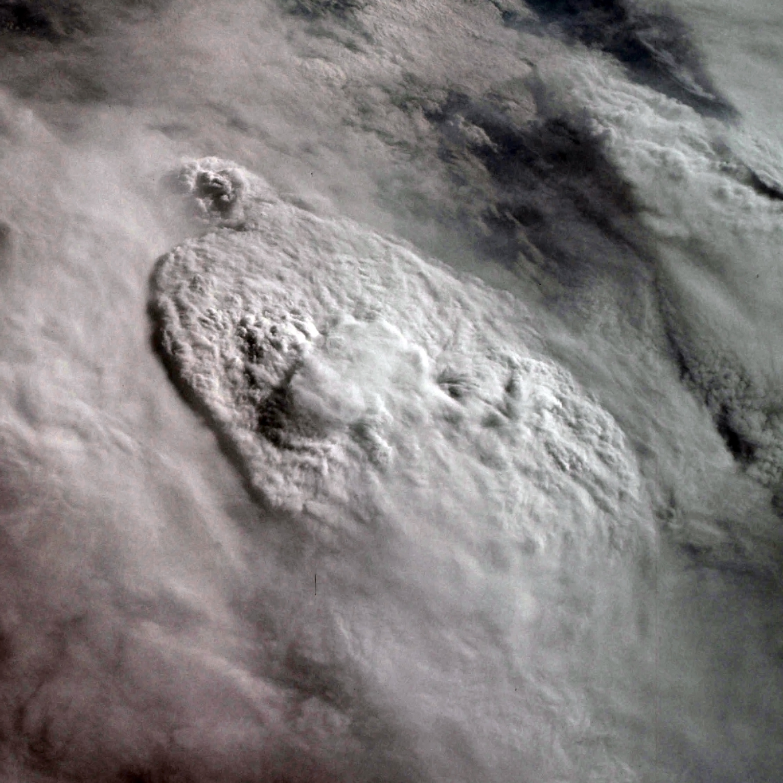 Storm with an above-anvil cirrus plume. Credit: NASA