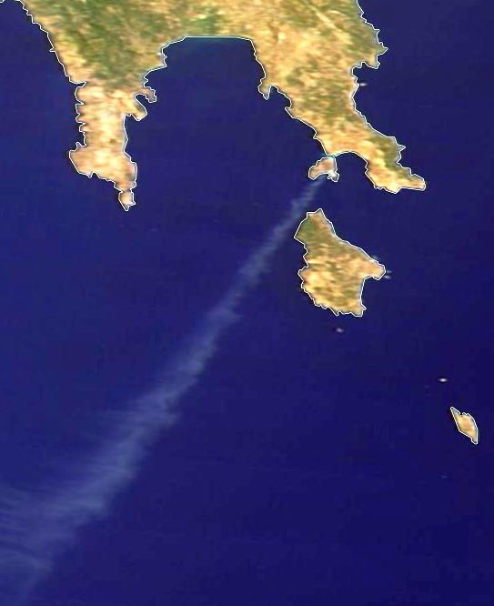Terra MODIS True Color, 10 August 10:30 UTC