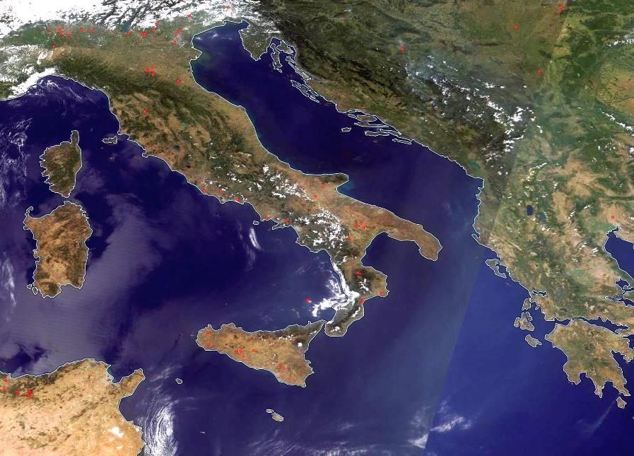 Terra MODIS True Color, 10 August 12:10 UTC