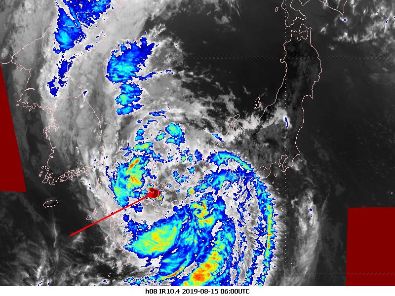 Himawari-8 infrared, 15 August 06:00 UTC
