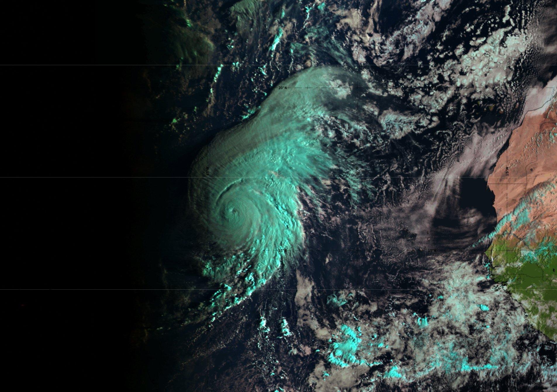 Meteosat-11 Natural Colour RGB, 27 Sept 09:00 UTC