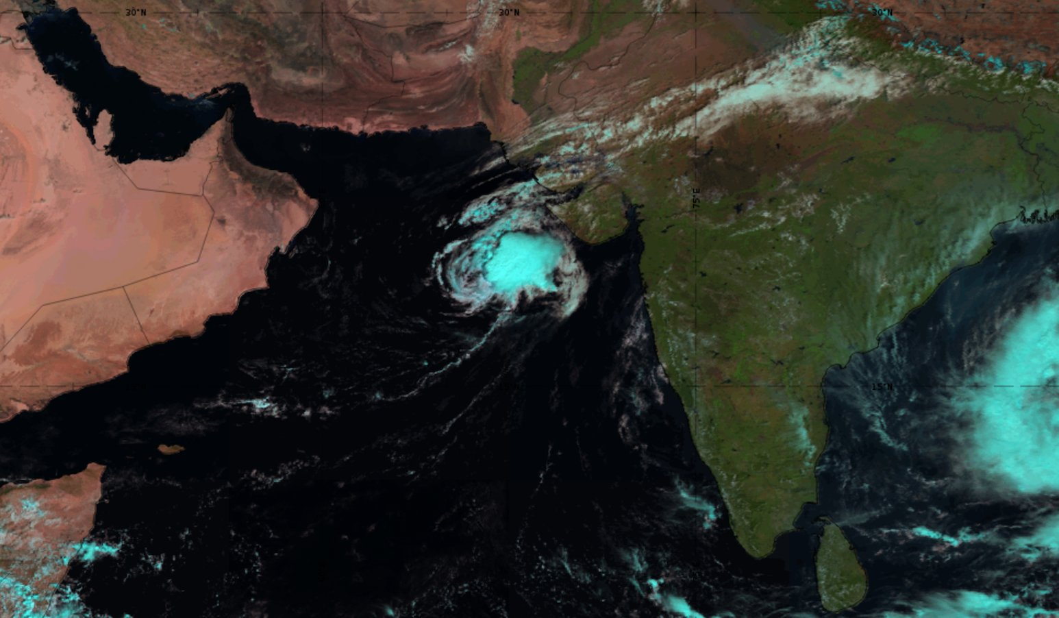 Meteosat-8 Natural Colour RGB, 6 Nov 06:00 UTC