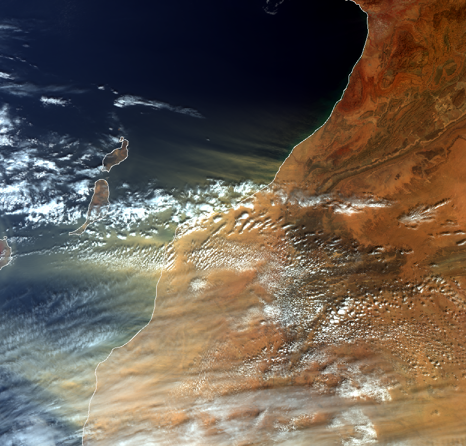 Sentinel-3A OLCI True Colour RGB, 10:40 UTC