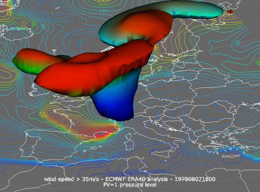 ECMWF ERA40 analysis, 07 August, 18:00 UTC