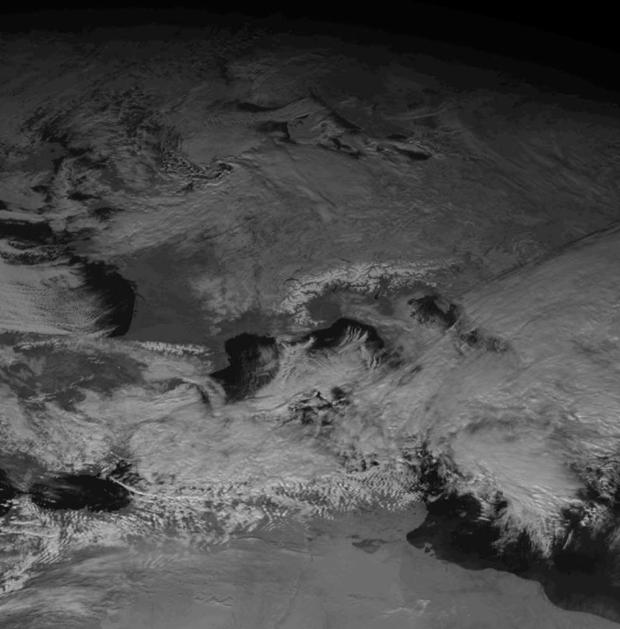 Meteosat-2 visible image, 6 January 12:00 UTC