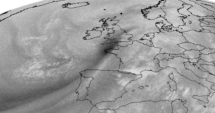 Meteosat-2 Water Vapour, 15 Oct 23:00 UTC