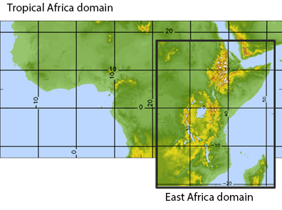 Illustration of the old and new domains covered by the models. Credit: Met Office