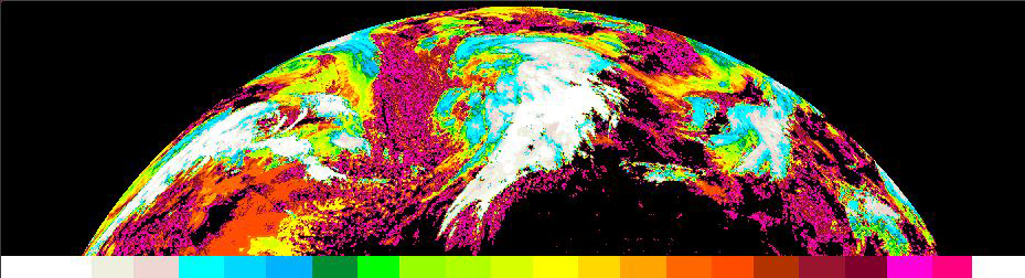 Example of Geostationary Nowcasting Cloud Top Temperature and Height