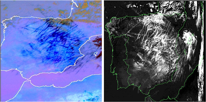 MTG example SEVIRI v MODIS Thin Clouds