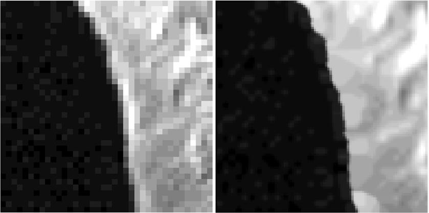 Original (left) and Enhanced (right) proxy Landmark