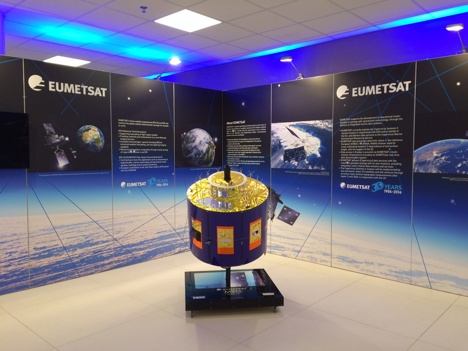EUMETSAT's booth at European Space Solutions 2016