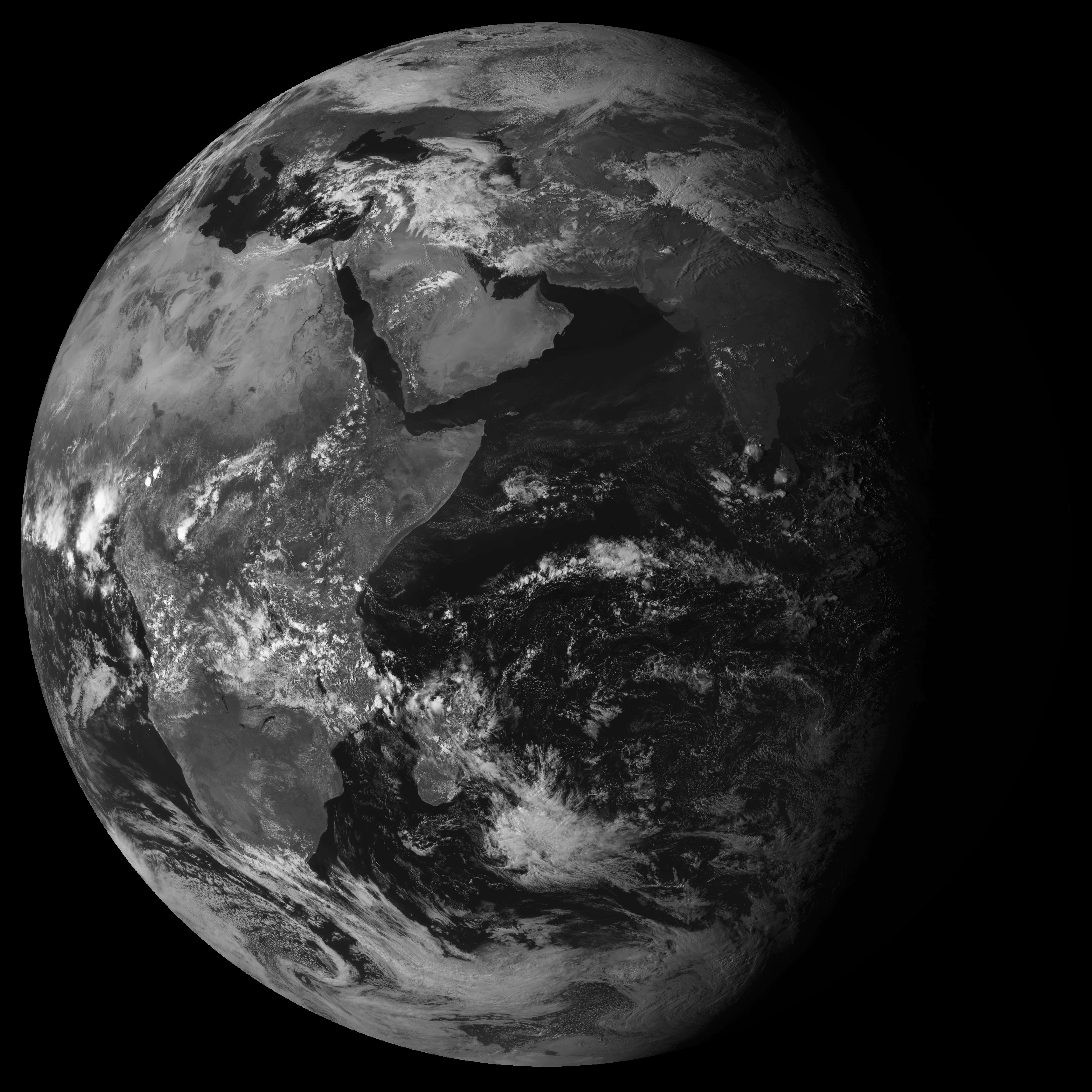 Final image scan from Meteosat-7 on 31 March 2017 11:30 to 12:00 UTC