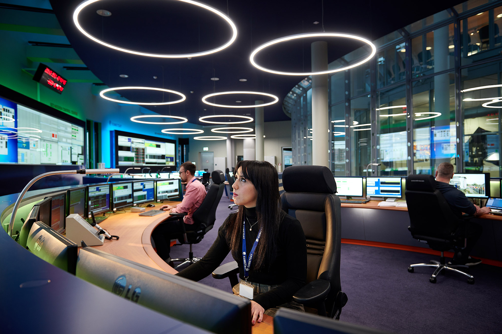 The recently refurbished EUMETSAT Geostationary Mission Control Centre in Darmstadt, Germany.