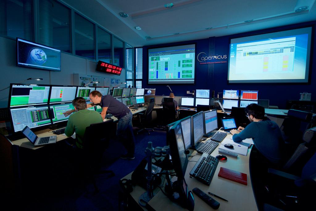 Copernicus control centre at EUMETSAT headquarters