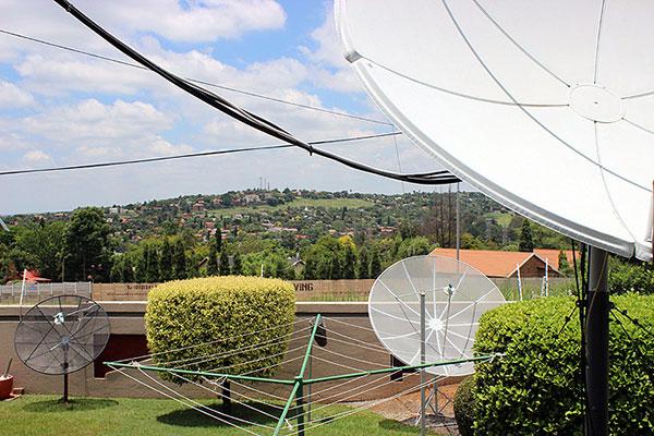 Kobus Botha's satellite dishes in Pretoria